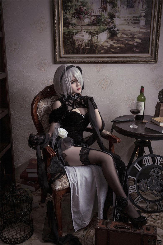 """《尼尔:机械纪元》""""尤尔哈2号B型""""旗袍黑丝小姐姐cosplay作品"""