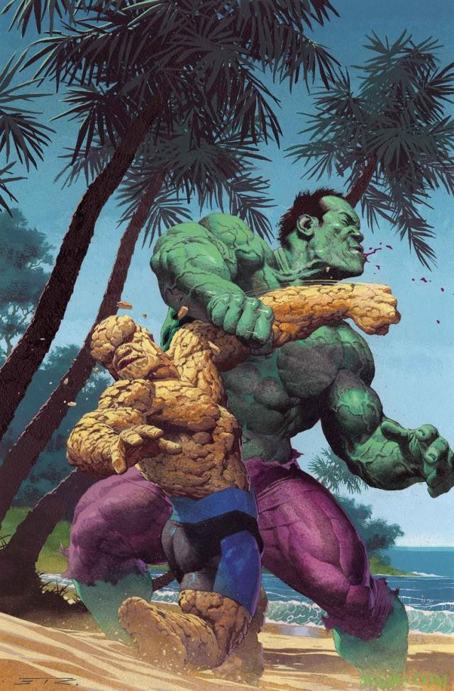 石头人VS浩克 石头人突破力量界线脱离控制战胜浩克