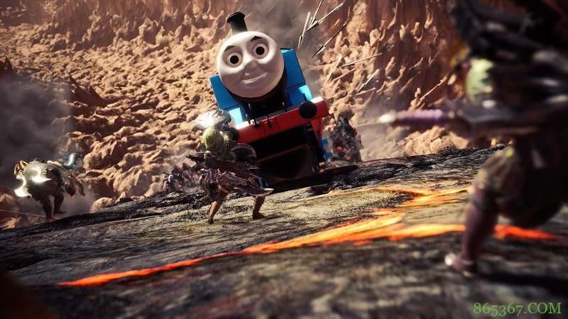 《魔物猎人:世界》汤玛士小火车登场 皮笑肉不笑诡异画面令人恐怖