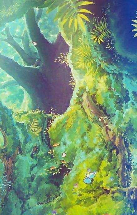 宫崎骏动漫场景插画 第一张插画都有童话的味道