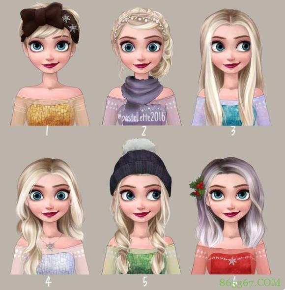 国外网友为迪士尼公主换发型,短发乐佩很好看,艾莎还是原版更美