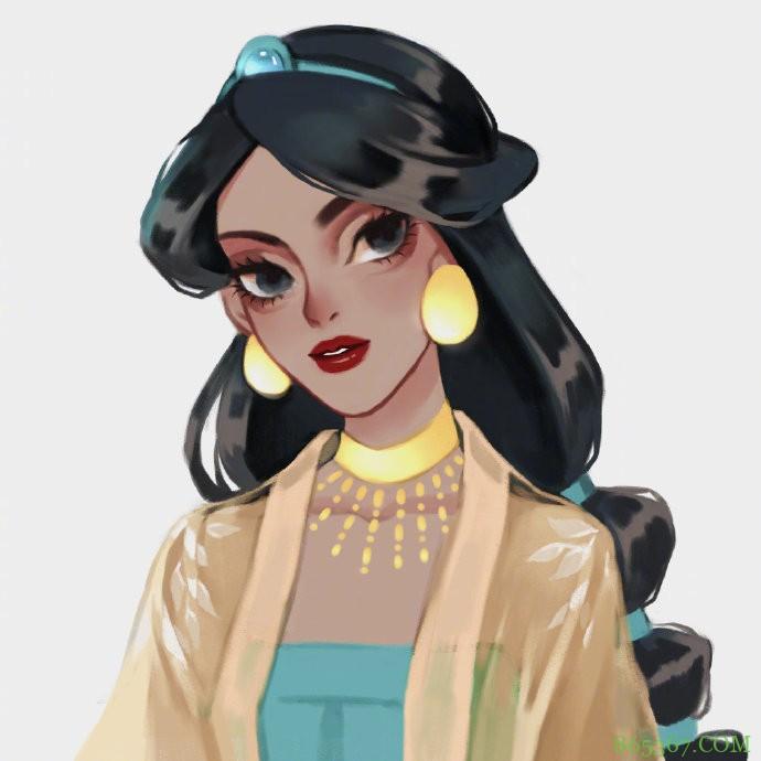 迪士尼公主穿汉服,花木兰这一身绝了,白艾莎女王妥妥的古风美人