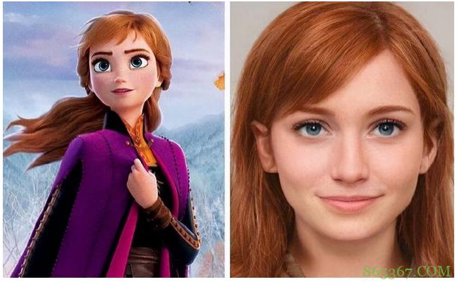 迪士尼公主变真人版,灰姑娘眼睛好看,艾莎女王表情俏皮