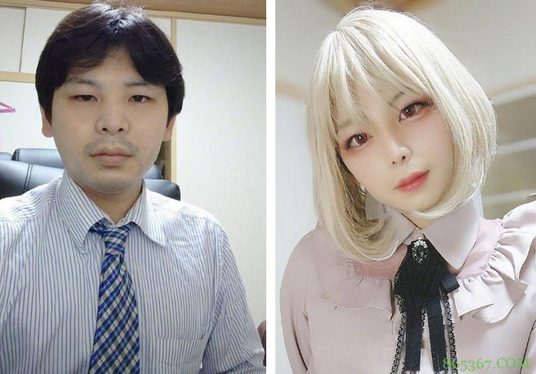 日本网友晒照片,30岁之前是糙汉,30岁之后变成女装大佬