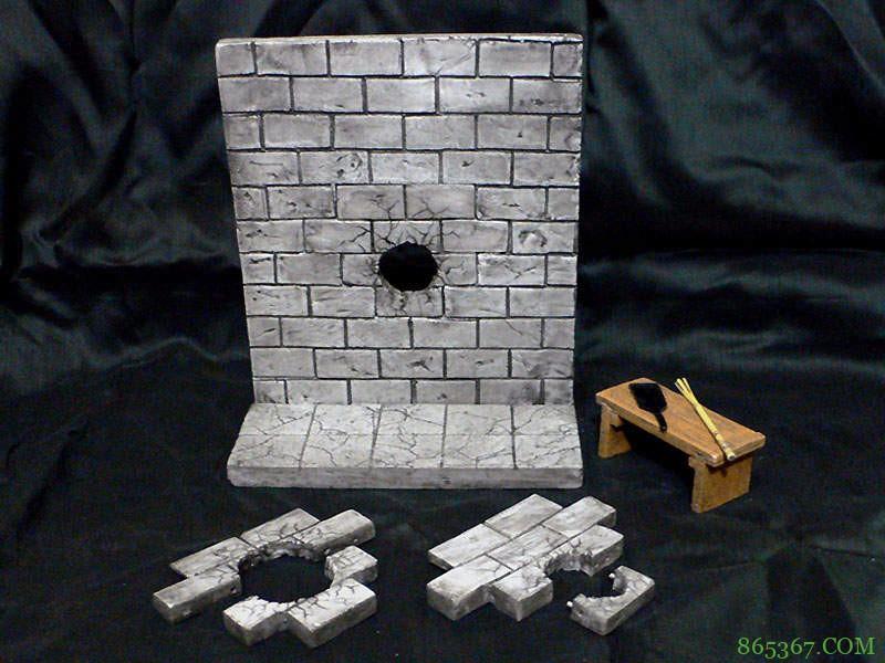 穿孔墙壁模型 游戏情境模型令人玩家们兴奋
