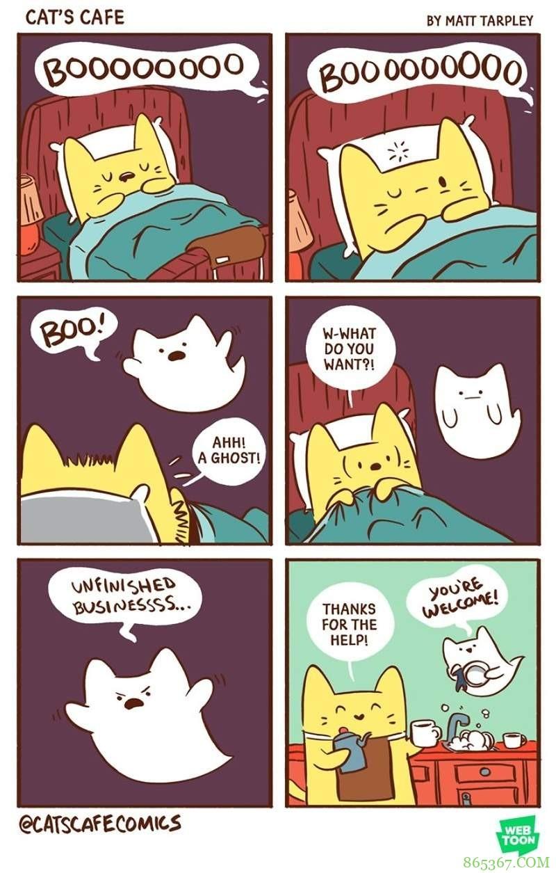 动物插画《Cat's cafe》 猫咪咖啡厅治愈系萌宠超可爱
