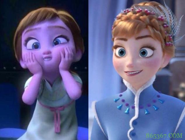 官方公开迪士尼公主小时候的样子!艾莎好可爱,乐佩胖嘟嘟