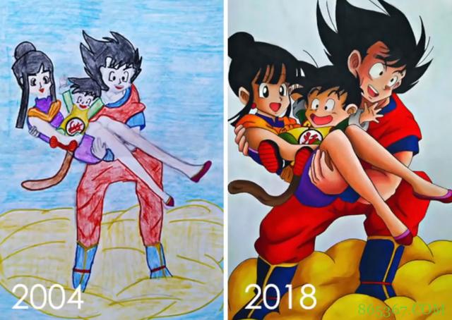 才开始学画别气馁,看看这些画师大佬的作品,新旧对比太强烈