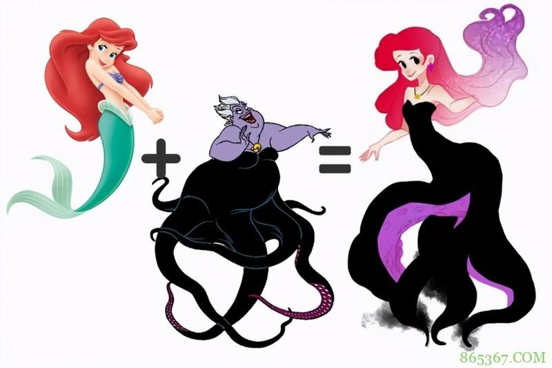 当迪士尼公主化身反派,艾莎女王气质卓绝,白雪公主好可爱