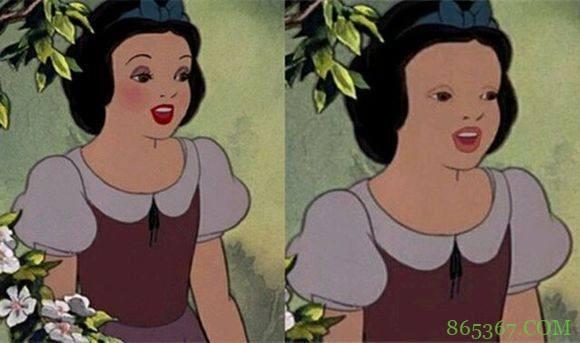 迪士尼公主们卸了妆是啥样?艾莎女王依然美丽,白雪公主有点意外
