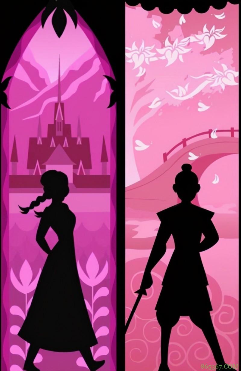 网友创作迪士尼公主剪影,一眼认出艾莎女王,木兰的也很显眼!