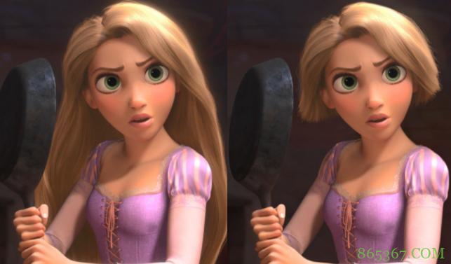 迪士尼公主变短发,乐佩看着有点怪,艾莎看着好帅