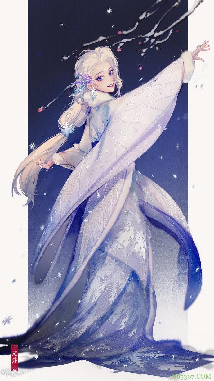 看过太多中国风的迪士尼公主,我最爱这一组,不仅有汉服还有戏服