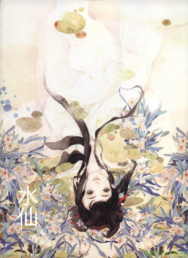 画师大佬绘制花卉拟人,既能科普花朵又能宣传古风,太美了